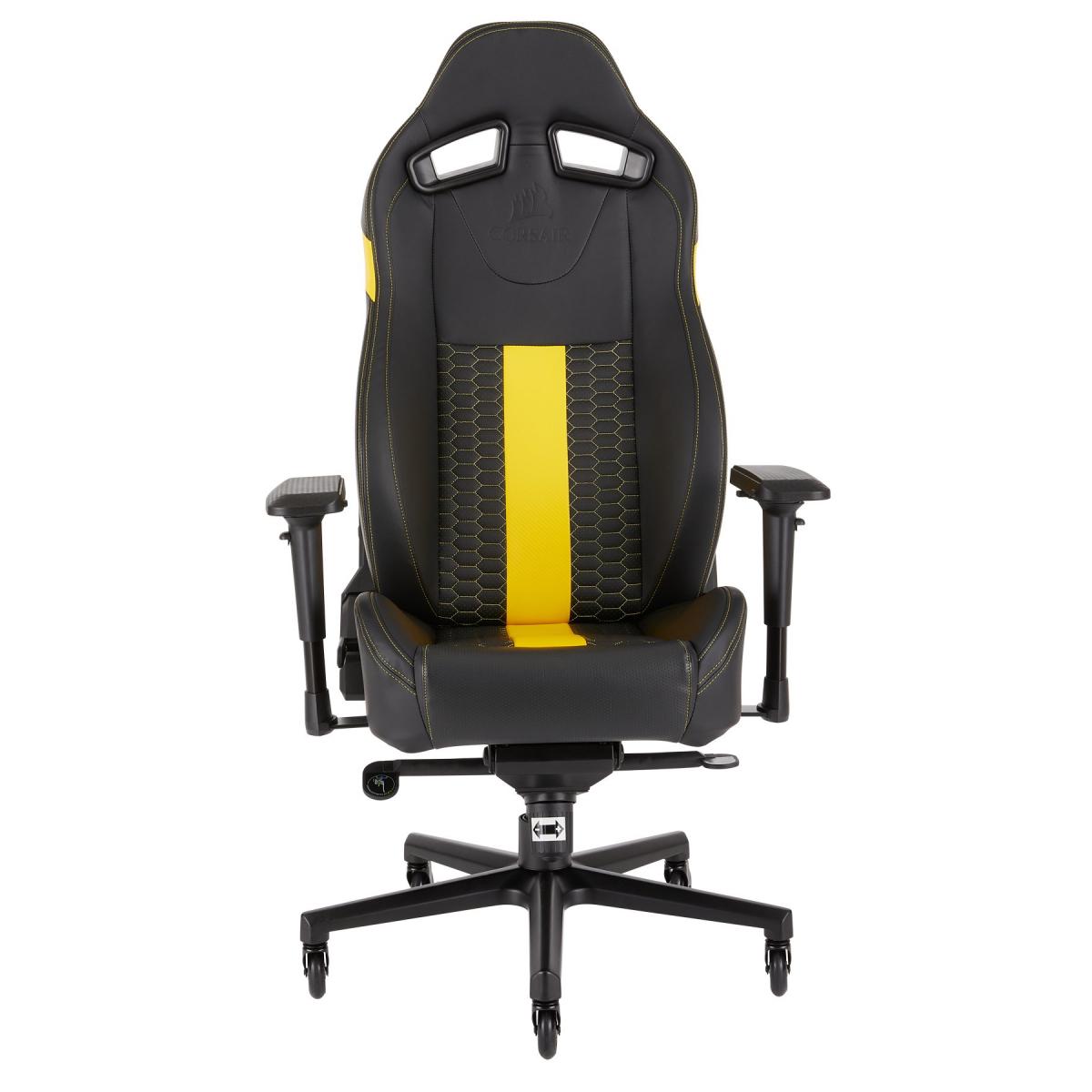 Amazing Corsair T2 Road Warrior Gaming Chair Black Yellow Camellatalisay Diy Chair Ideas Camellatalisaycom