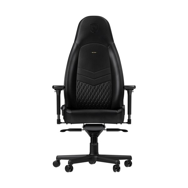 NOBLECHAIRS ICON REAL LEATHER BLACK/BLACK