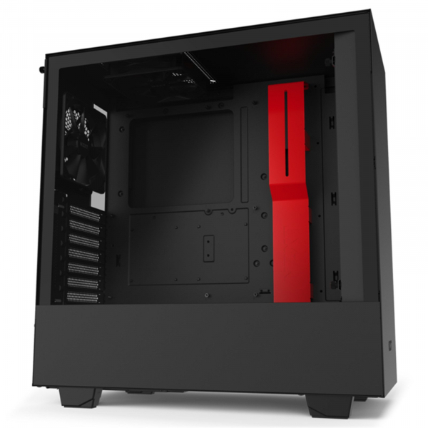 NZXT H510 Compact Matte Black/Red ATX MidTower