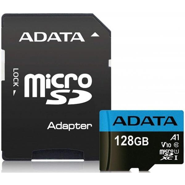 ADATA PREIMIER 128GIG USH-1 MICRO SD WITH ADAPTER