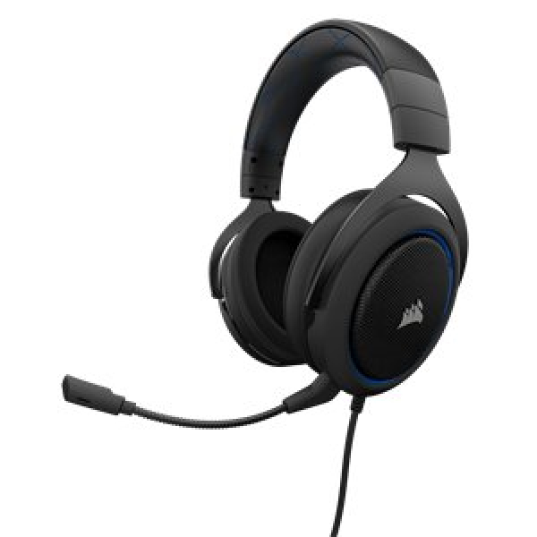 CORSAIR HS50 STEREO GAMING HEATSET BLUE