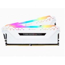 CORSAIR DDR4, 3200MHZ 16GB KIT WHITE VENGEANCE RGB
