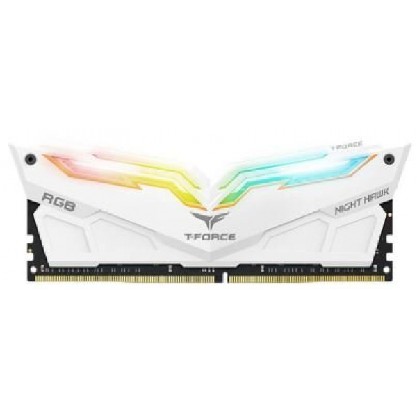 TEAM T-FORCE NIGHT HAWK WHITE 16GB RGB 3200MHz