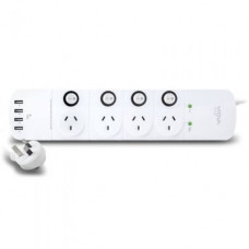 VROVA 4 Outlet Power Board 4xUSB Surge overload