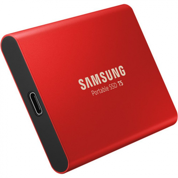 SAMSUNG 500GB T5 PORTABLE SSD RED