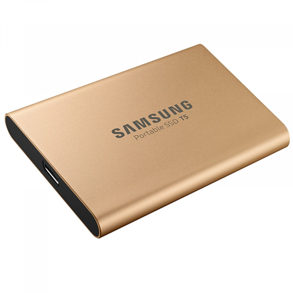 SAMSUNG 500GB T5 PORTABLE SSD GOLD
