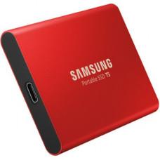 SAMSUNG T5 PORTABL;E SSD USB 3.1 TYPE-C RED