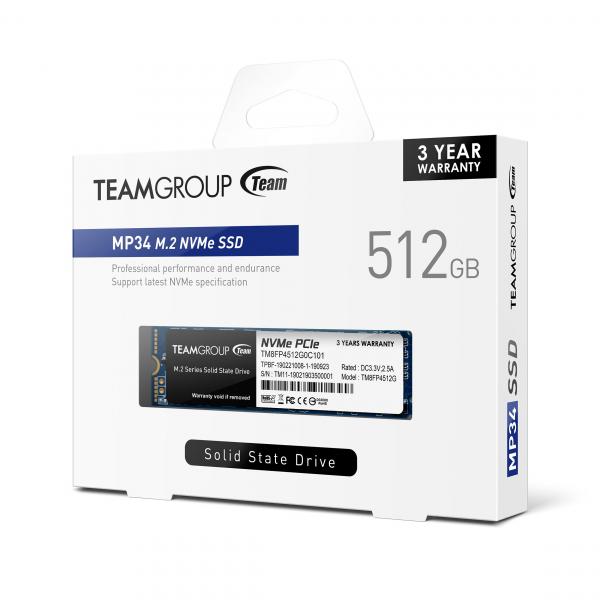 TEAM GROUP MP34 512GB M.2 NVMe