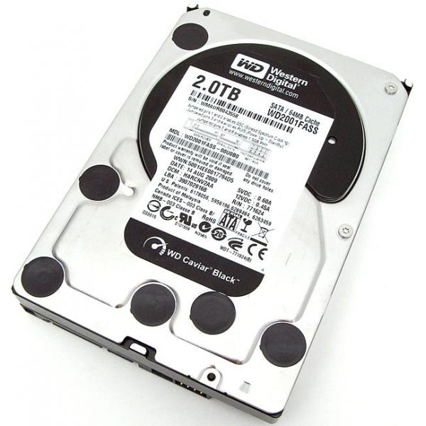 WD BLACK 2TB 6GBS SATA3 7200RPM 64MB